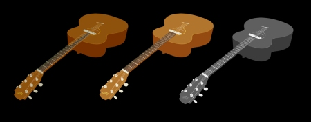 I enjoyed creating these logo ideas above using a photograph of my beloved Lowden guitar.