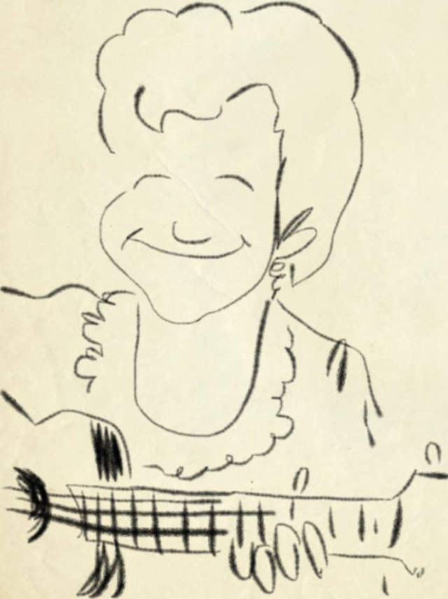 Someone who has watched me play at Kulak's Woodshed shared this sketch with me on Facebook. Is that what I look like when I play? I guess it is, because many people have told me it looks just like me. Of course, my eyes are closed – but I often did that before I had dry eyes.