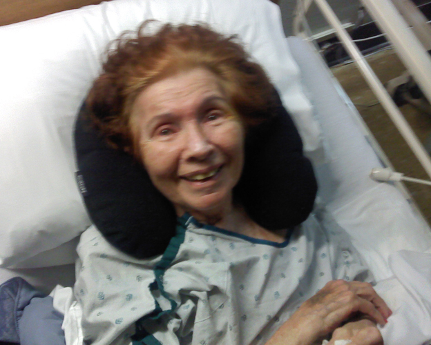 In this picture, I had just arrived at the hospital. My mom's face lit up when she saw me – no matter how sick she was.
