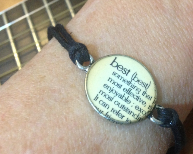 On my garden outing with Joni, she gave me a very meaningful bracelet as a gift. She has a matching one.