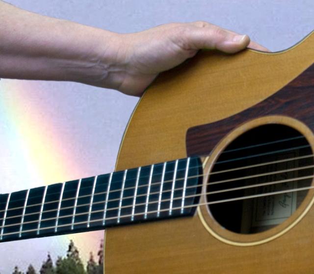 guitar & rainbow