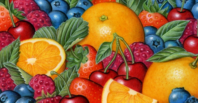 I don't have any illustrations of rainbows, so fruit will have to do for now.