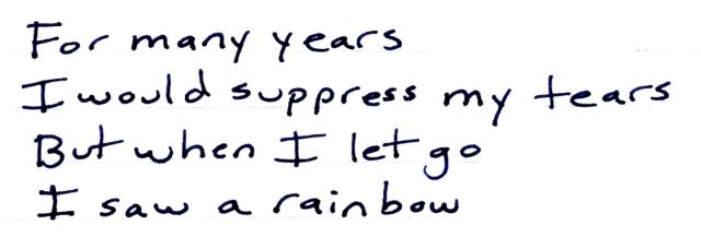 suppress my tears