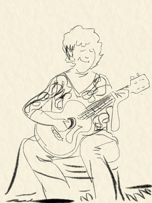 A man named T Dan drew this caricature and gave it to me. He also plays at Kulak's Woodshed where I perform.