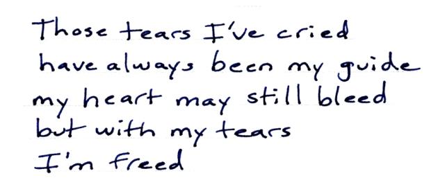 those tears I've cried