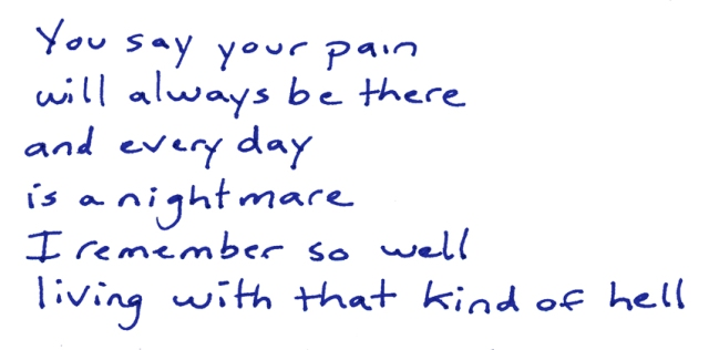 You say your pain