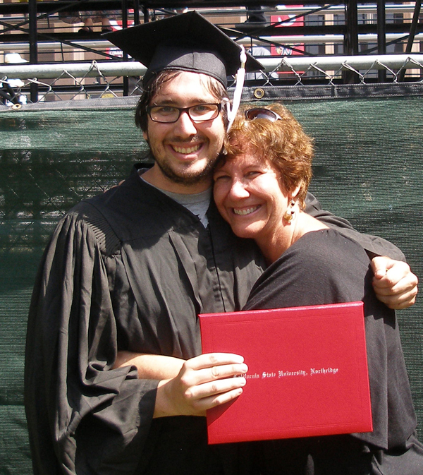 I was so proud of my oldest son at his graduation from college three years ago. He attended the same state college I did.