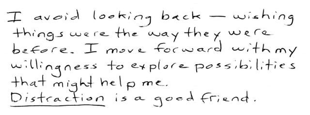 I avoid looking back