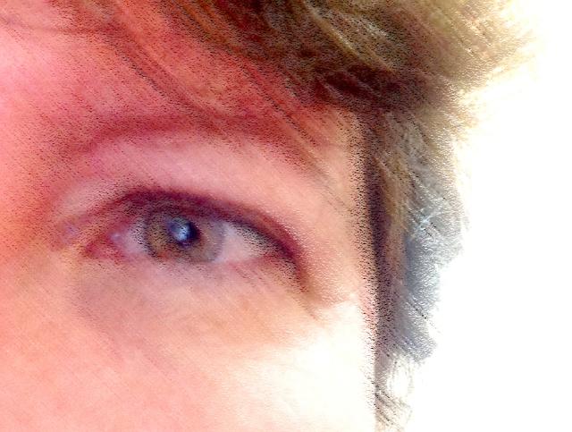 My eye pastel flipped