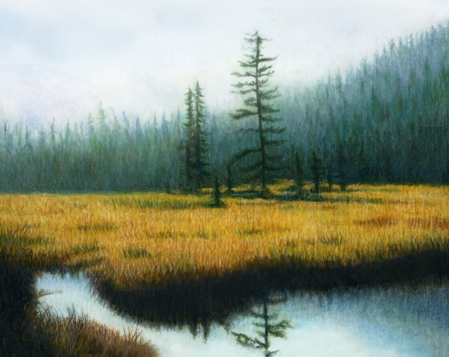 "This is a marker rendering that I used for the cover of my meditation album named ""Set You Free."" Sometimes life can feel gray and foggy, but despite that – beauty can be found!"