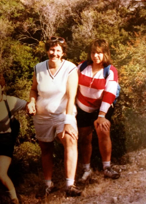 The day before my trip, Lupe shared a picture with me that I hadn't seen. It was of us hiking together in 1988.