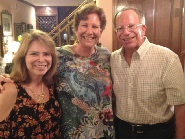 In this picture, I'm with my brother, Norm, and sister-in-law, Jo. They are doing great at maintaining their weight loss.