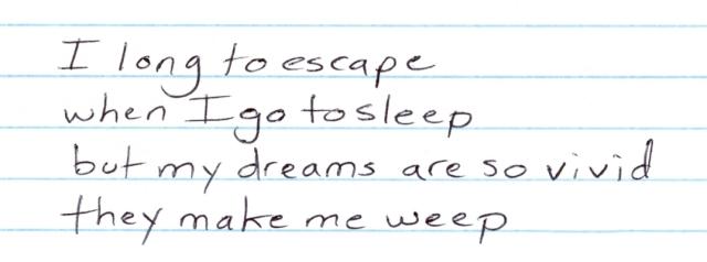 I long to escape